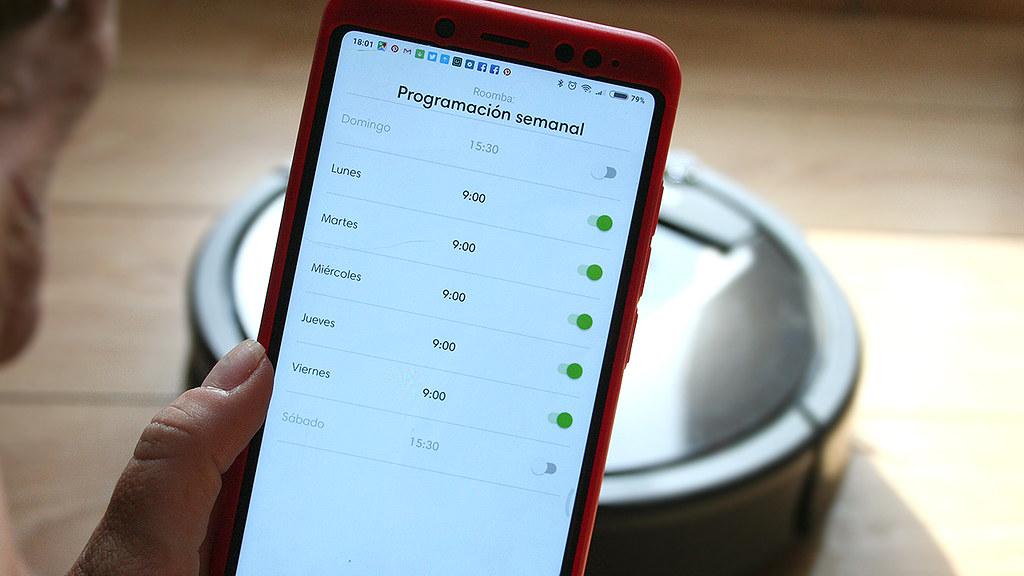 app de la Roomba 980 de iRobot