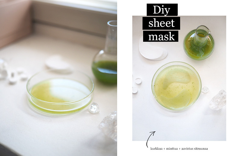 Diy Sheet Mask - kurkku minttu sitruuna