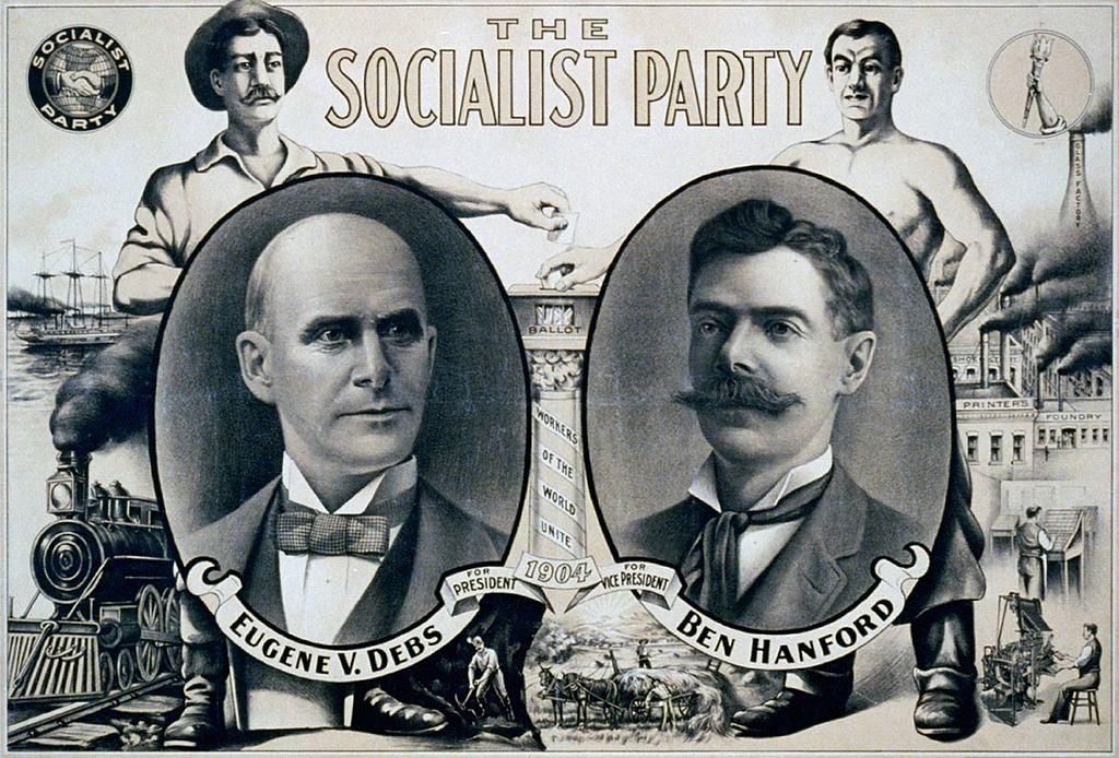 1904年,美國社會主義黨尤金・德布斯競選總統海報。(圖片來源:維基百科)