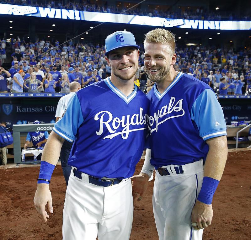 Ryan O'Hearn(左)與Hunter Dozier(右)寫下史無前例紀錄。(達志影像)