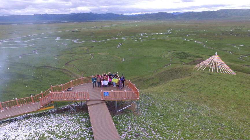 在瑪曲當地帶入生態旅遊,增加在地居民的收入。照片提供:趙中(不適用CC共創授權)