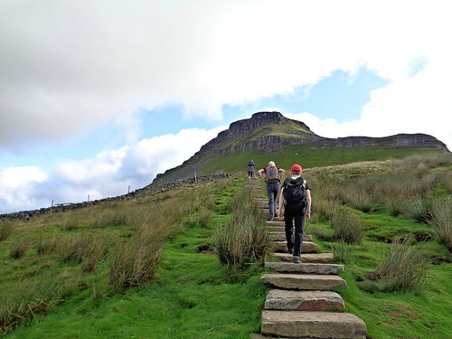 The ascent from Horton up to Pen-y-ghent