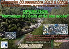 """Affiche de l'opération """"Nettoyage du Cavu et de ses accès"""" du Dimanche 30 septembre 2018"""
