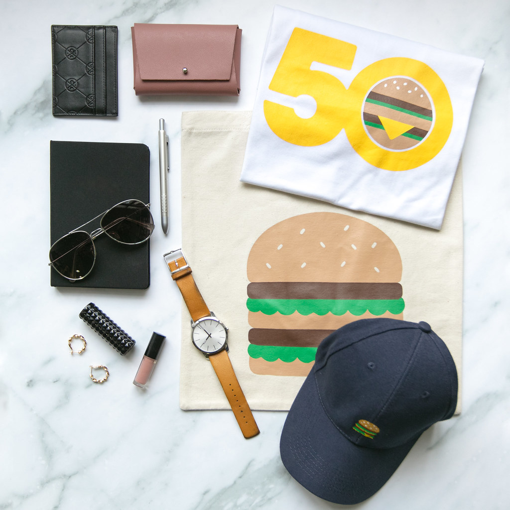 Big Mac merchandise includes a tote bag, a cap and a tee. (Credit: McDonald's Singapore)