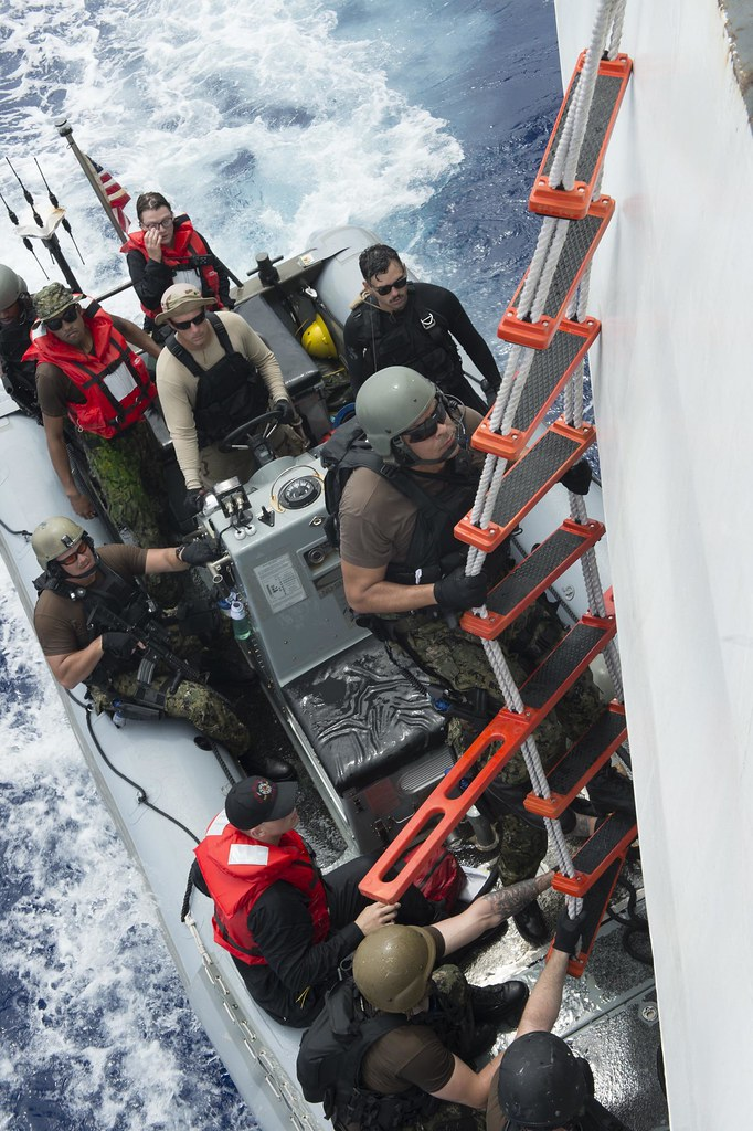 U.S. Navy ships USS Gravely (DDG 107) and USS Hue City (CG 66) rendered assistance to distressed mariners in the Atlantic Ocean on May 17 and May 24, respectively.