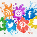 Social Media Icons With Paint Splash Effect