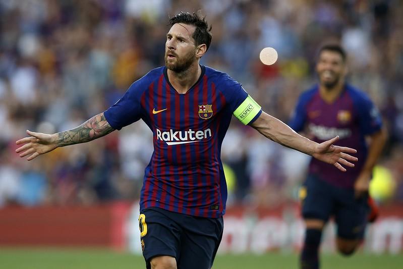 Lionel Messi演出生涯歐冠第8次帽子戲法。(達志影像)