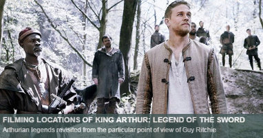 Where was King Arthur legend sword filmed