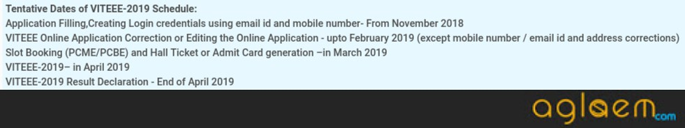 VITEEE 2019 Application Forms To Be Available From November 01, 2018; Exam Slots And Tentative Dates Released