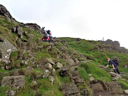 Ascending the steep section of Ingleborough