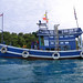 Original Thai fishing boat is customized as boat for divers