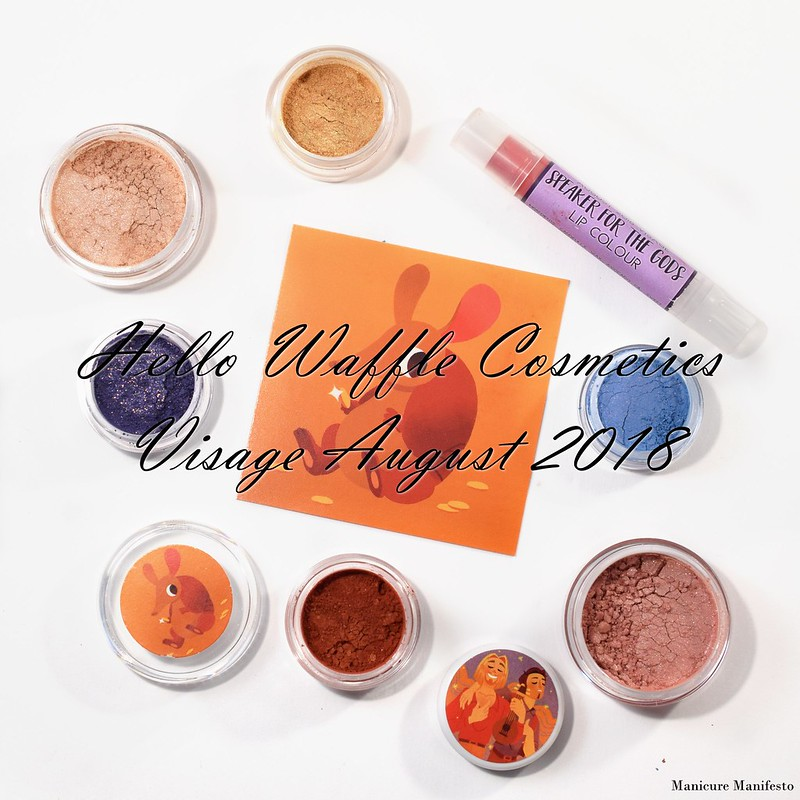 Hello Waffle Visage August 2018 swatch review