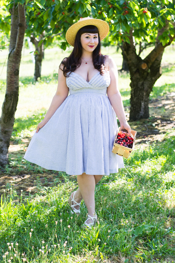 trashy diva seersucker apple tart dress