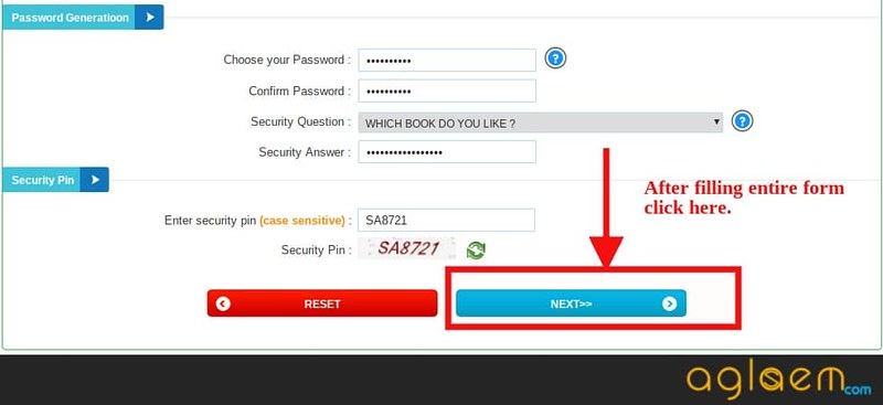 Securiy and Password Generation section