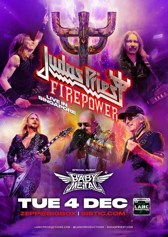 Judas Priest có tour diễn tại Singapore với sự support của Baby Metal