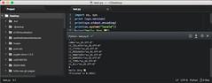 Gelöst: Atom, Python und UTF-8