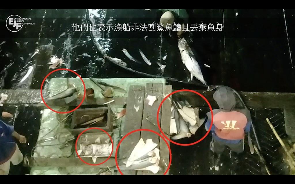 圖片來源:福甡11號調查影片【拖網而逃:台灣未能阻止福甡11號剝削漁工及非法捕魚】影片截圖