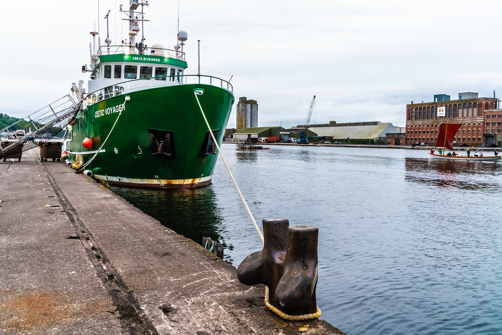 THE CELTIC VOYAGER - HORGAN'S QUAY IN CORK CITY [A RESEARCH AND SURVEY VESSEL] 001