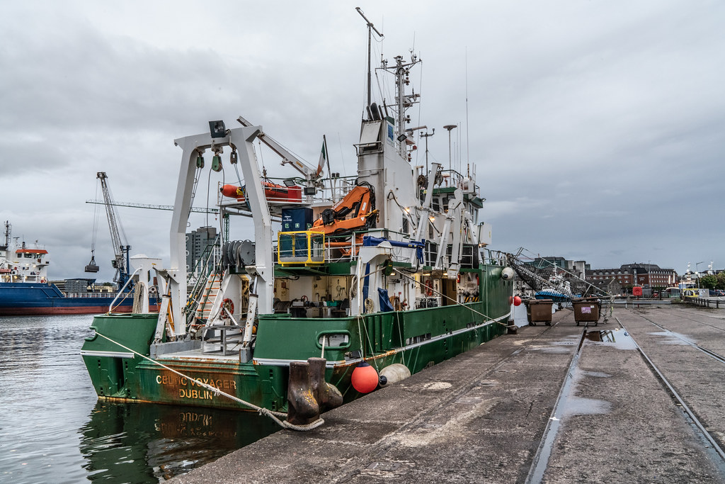 THE CELTIC VOYAGER - HORGAN'S QUAY IN CORK CITY [A RESEARCH AND SURVEY VESSEL] 007