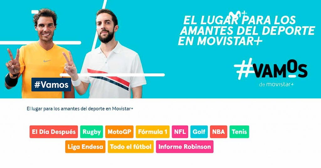 ¿Qué deportes y qué partidos emite #Vamos de Movistar?