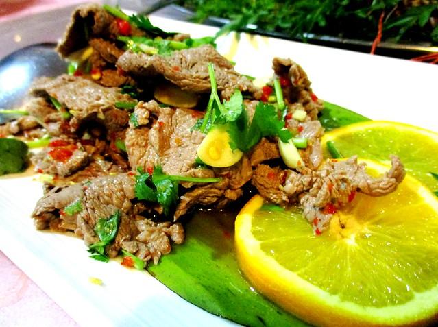Flavours Thai Kitchen beef manao