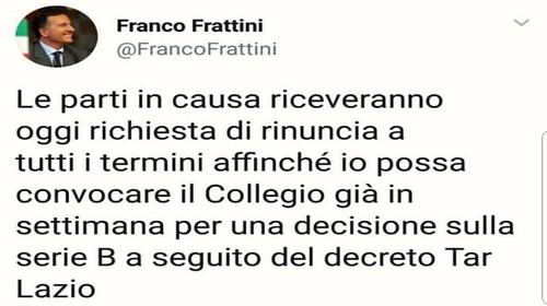 Caos ripescaggi, Frattini ci ripensa: udienza in settimana?$