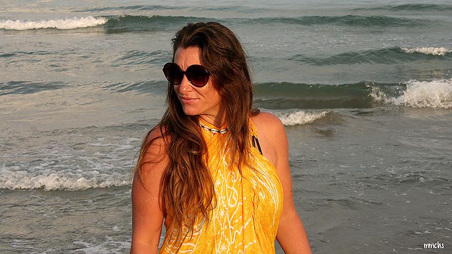 Atardecer en la playa de Oropesa