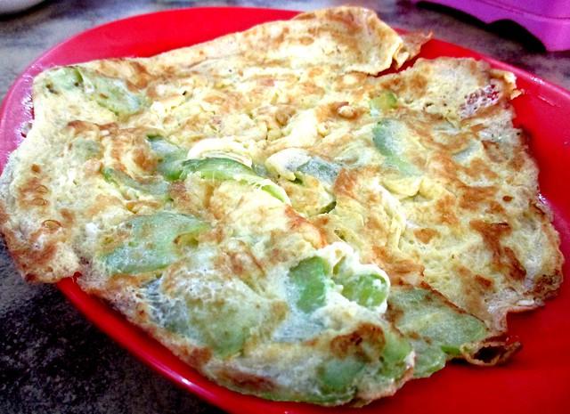 Hua Kee, Selangau bitter gourd omelette 1