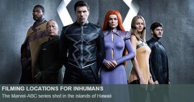 Where is inhumans filmed