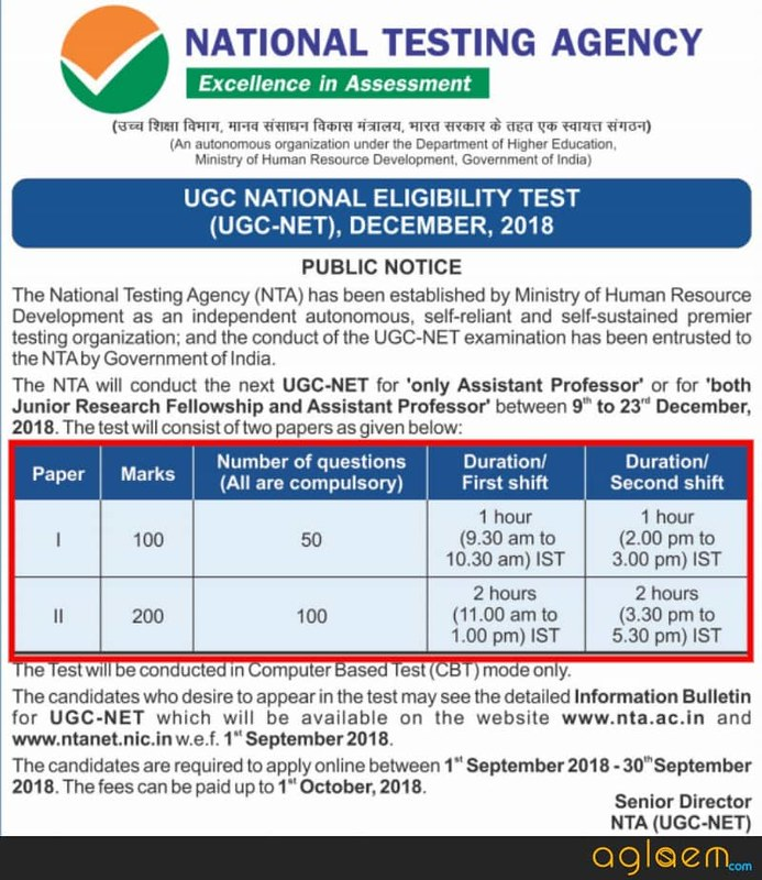 UGC NET Dec Admit Card 2018   Download Here
