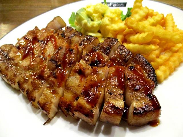 Caffeine Cafe BBQ pork chop 1