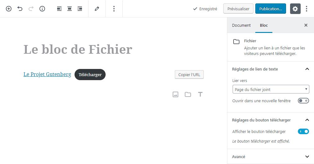 Bloc Fichier Editer
