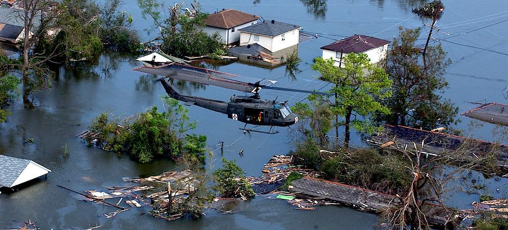 Последствия урагана Катрин в Новом Орлеане, США, август, 2005 год.