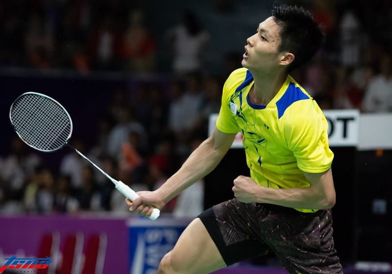 周天成為中華隊在羽球男單留下銀牌已是歷史。(特約攝影侯禕縉/現場拍攝)