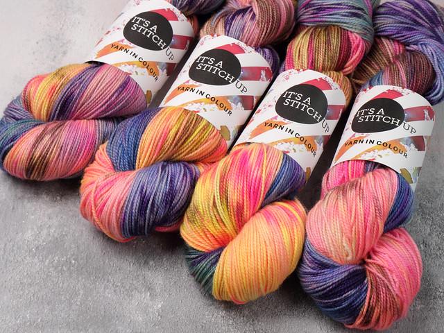 Favourite Sock – hand-dyed pure merino superwash wool 4 ply yarn 100g – 'Ride into the Sunset'