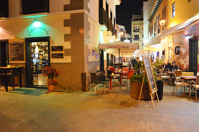 Restaurants side street, Puerto de la Cruz, Tenerife