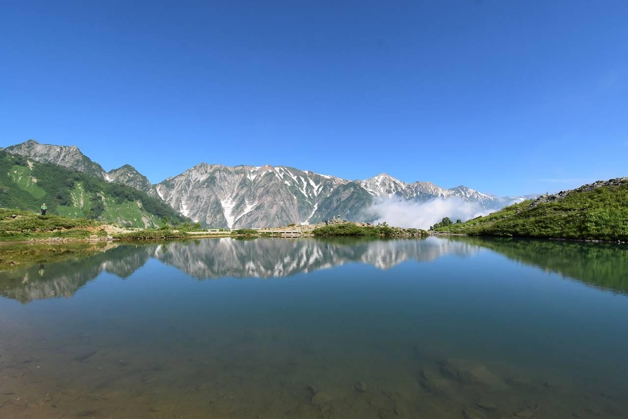 鏡の八方池・逆さ白馬岳