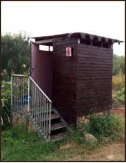 蓋婭沃思花園的生態女旱廁,大家戲稱為「女王的座椅」。照片提供:張赫赫(不適用CC共創授權)