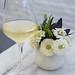 Glass of Domaine Faiveley Bourgogne Blanc 2015, France