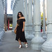 black off the shoulder dress, round rattan bag, urban light-9.jpg