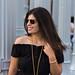 black off the shoulder dress, round rattan bag, urban light-7.jpg