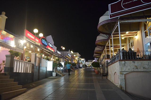 Restaurants side street, Costa Adeje, Tenerife
