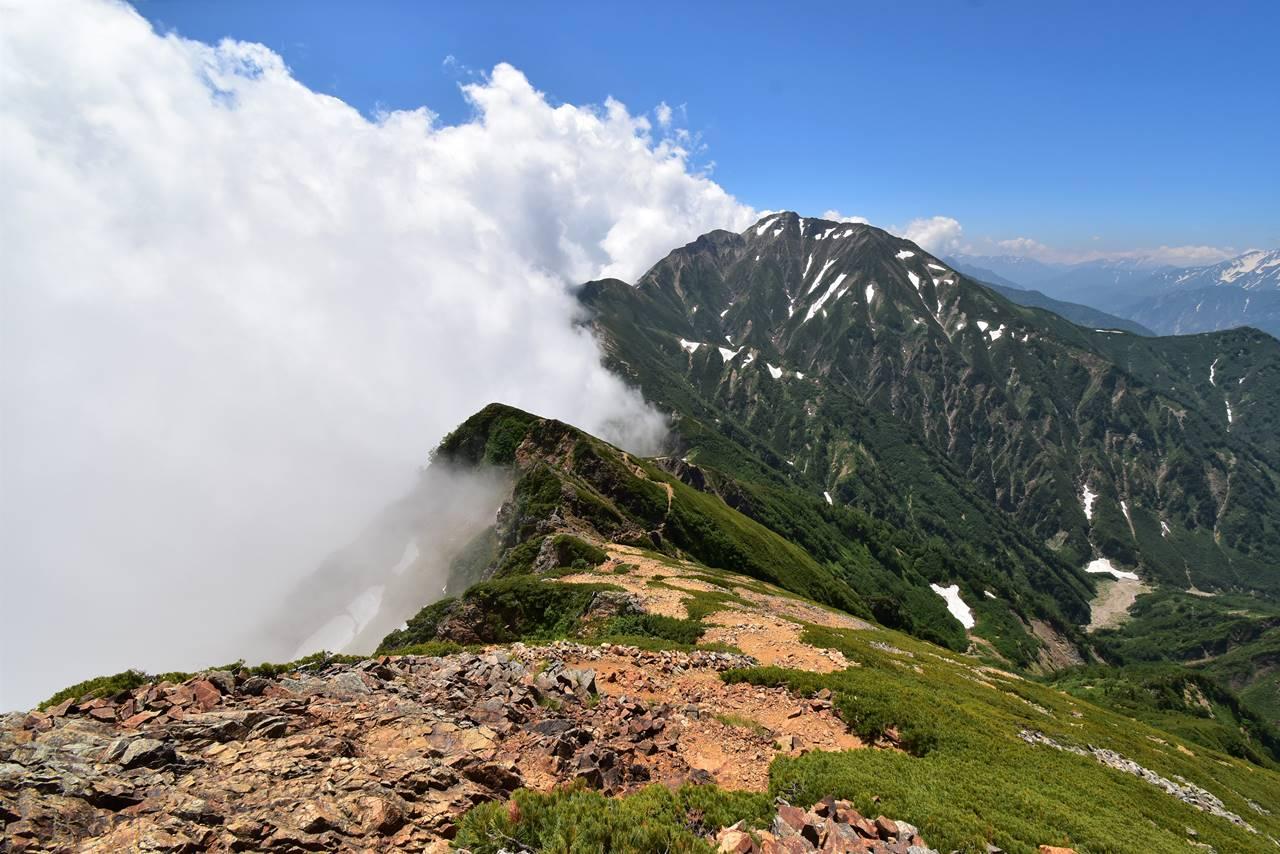 唐松岳から五竜岳へ