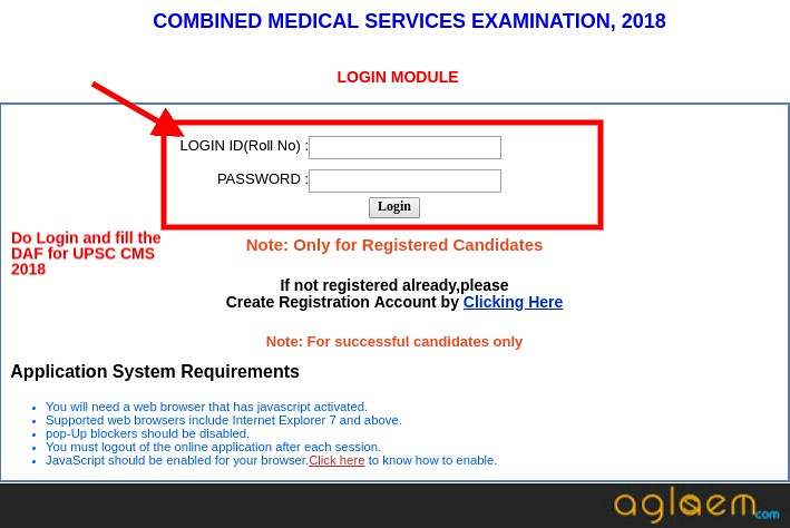 UPSC CMS 2018 Application Form   Apply Online to Fill DAF