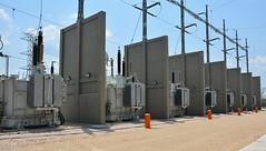Transformadores energizados en la subestación Nueva Montería