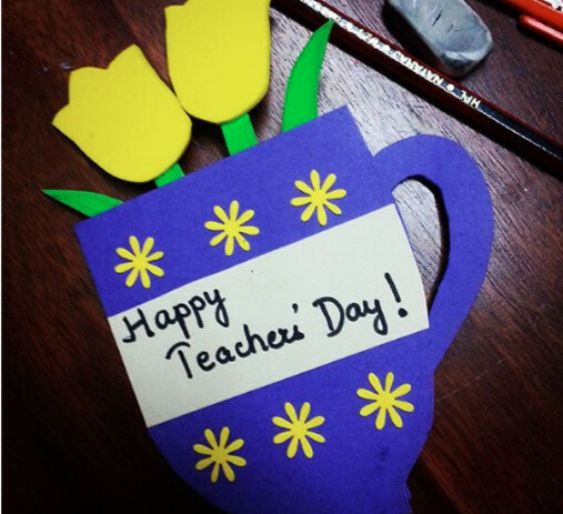 how to make handmade teachers day card at home