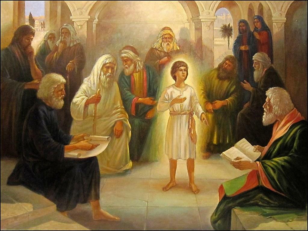 Отрок Христос в Иерусалимском храме.