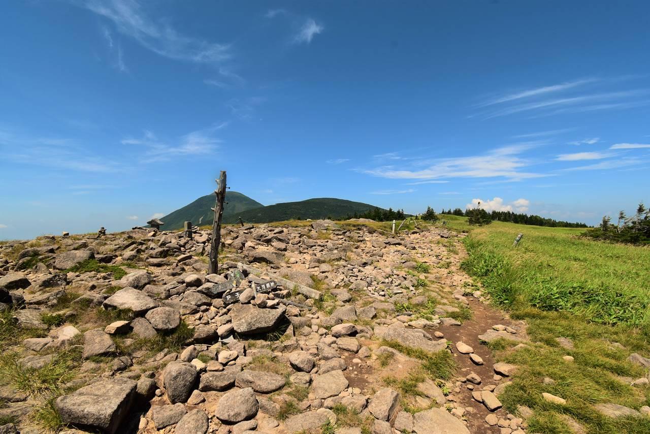 双子山の稜線