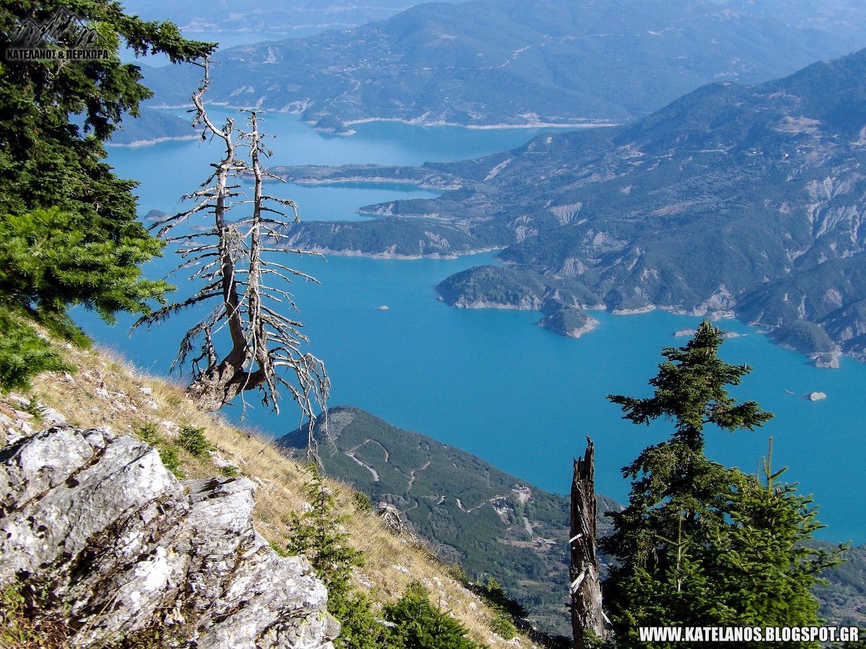 λιμνη κρεμαστων απο ψηλα ελατα βουνο παναιτωλικο ορος