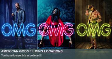 Where is american gods filmed